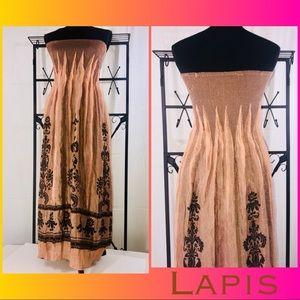 LAPIS convertible strapless dress